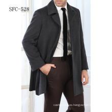 abrigo de lana de estilo europeo 100% de los hombres