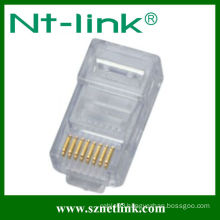 Without shield rj45 8p8c cat6 modular plug