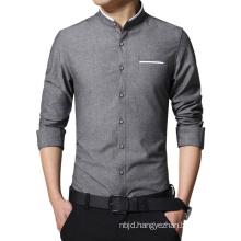 Men Casual Shirt Ong Sleeve Slim Fit Shirt Men Business Shirts