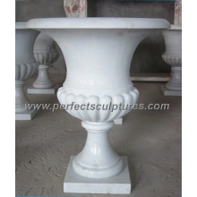 Stone Marble Flower Pot for Garden Ornament (QFP076)