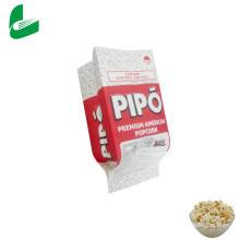 Sac d'emballage en papier pop-corn micro-ondable et graissable Kraft