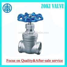 DN32 stainless steel gate valves,hand wheel,PN16