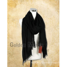 Woman fashion Black color Large Wool Scarf
