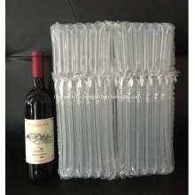 Заполните воздушный упаковочный пакет для двух бутылочных вин