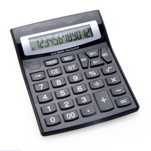 Calculatrice de bureau Dual Power Office avec grand bouton