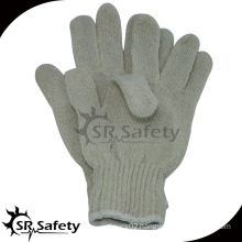 SRSAFETY natural polycotton hand protection gloves/colored cotton gloves