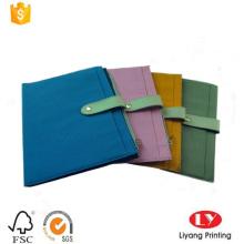 Impresión elegante del cuaderno de la cubierta de tela