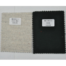 Tela de lana de cachemira de peso pesado negro 610g / m de China