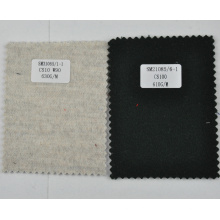 Black 610g/m heavyweight cashmere fleece fabric from China