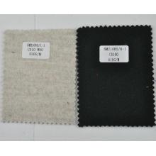Preto 610g / m tecido de lã de cashmere pesado da China
