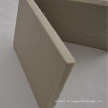 Hoja / Tablero de plástico grueso gris PP