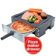 Parrilla eléctrica multifunción, Pizza Maker, Pinchos