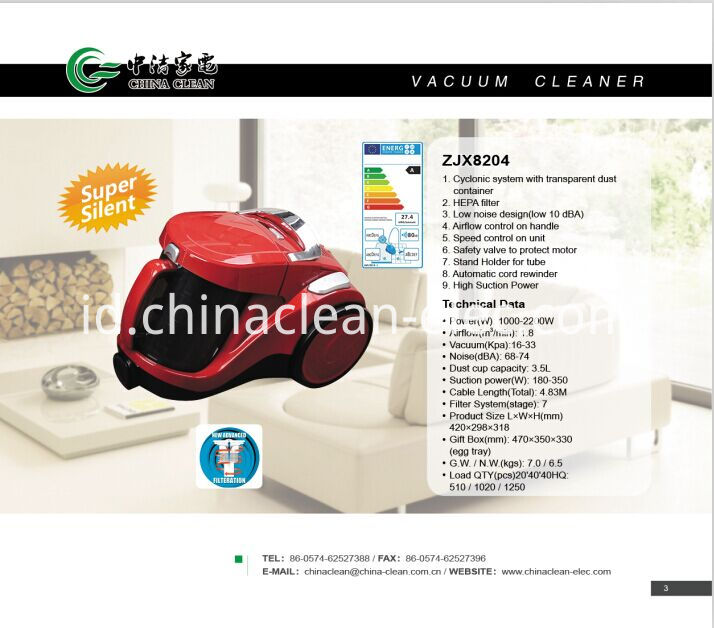 High Suction Power Vacuum Cleaner