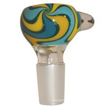 Estuche reversible de vidrio para fumar tabaco con color Rasta (ES-GB-245)