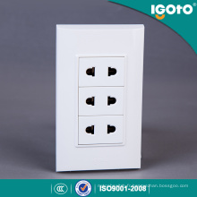 10A 250V 3 Gang 2 Pin Socket