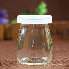 Wholesale Storage Bottle Can 50ml 100ml 150ml 200ml Pudding Yoghurt Glass Jar Dessert Glass Bottle Milk Glass Jars with Lid