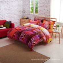 Super macio 220gsm impresso grossista flanela cama conjunto
