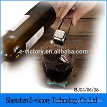 Pack 4 aço inoxidável Shell uísque refrigeração cubos de gelo reutilizável para vinho de uísque, sua bebida de refrigeração sem diluição
