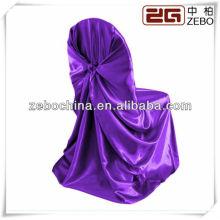 Hot vendendo estilos diferentes disponíveis personalizado grosso cetim roxo cadeira cobre