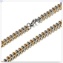 Collar de moda cadena de acero inoxidable de joyería de moda (sh043)