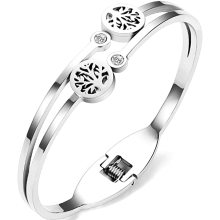 Three color fashion tree of life 316l stainless steel charms for bangle women bracelet gold plated