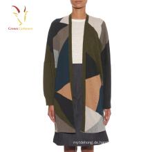 Intarsia Oversized Strickjacke Pullover für Frauen