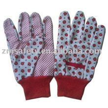 Cotton garden glove with PVC dots on the palm ZMR340