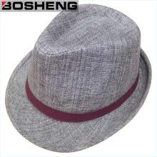 Зимняя теплая мода Серые мужчины Fedora Felt Hat