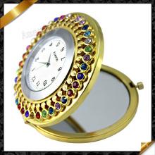 Miroir de mode Montre bijoux en cristal, miroir cosmétique (MW007)