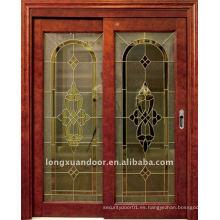 Puerta corredera de cristal de madera