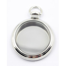 High Quality Silver Glass Faced Locket Pendant