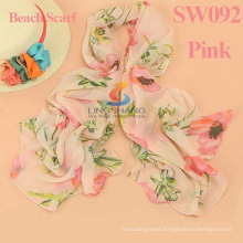2015 new women fashion printe floral high quality chiffon plain shawls long wrap hijab muslim scarves