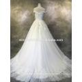 Werbe-Logo gedruckt billig benutzerdefinierte Low-Back-Hochzeitskleid