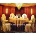 capa de cadeira do jacquard poliéster 100% para banquete, hotel