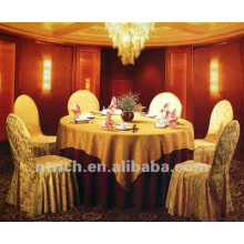 couverture de chaise jacquard polyester de 100 % pour banquet, hôtel