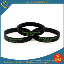 China Professional Manufacturer for Promotional Silicone Wristband with Customized Logo