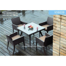 Outdoor Dining Table Garden Chair / Rattan Furniture