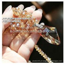 Coréia popular puro cristal austríaco colar de diamantes