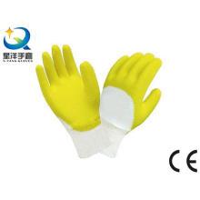 Cotton Interlock Liner Latex 3/4 beschichtete Arbeitshandschuhe
