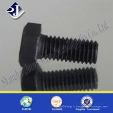 DIN933 ISO4017 boulon à tête hexagonale de vis de chapeau (10.9)
