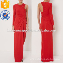 Red One-sleeved Gown Dress Manufacture Wholesale Fashion Women Apparel (TA4070D)