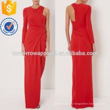 Красный с длинным рукавом платье платье Производство Оптовая продажа женской одежды (TA4070D)