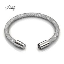 Women Jewelry Magnetic Clasp Bling Mesh Bracelet Embedded More with 120 PCS of Crystal