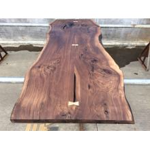 American Walnut Table Top with Live Edge for Furniture
