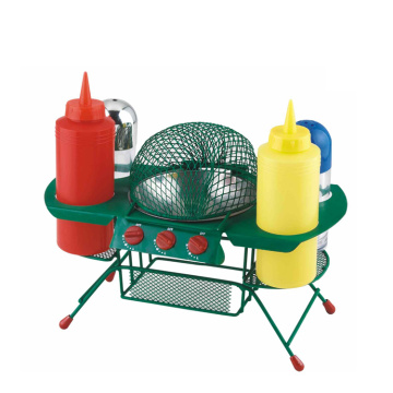 Set condimento da 6 pezzi in plastica per barbecue