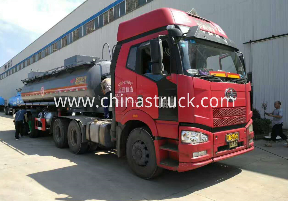 3 axle 20000 liters sulfuric acid tank semi-trailer
