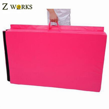 Pink Make-To-Order Folding Gym Mat Exercise Folding Foam Mat