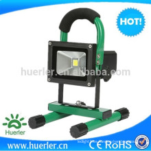 Luz de inundación al aire libre portátil recargable de emergencia 10w 12v led proyector