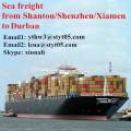 Sea freight rates from Shantou to Durban
