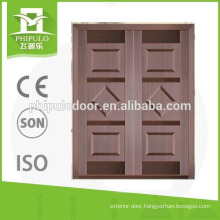 Quality guarantee residential bullet proof double door with luxury design